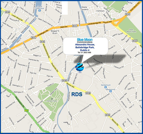 Map to Blue Moon offices